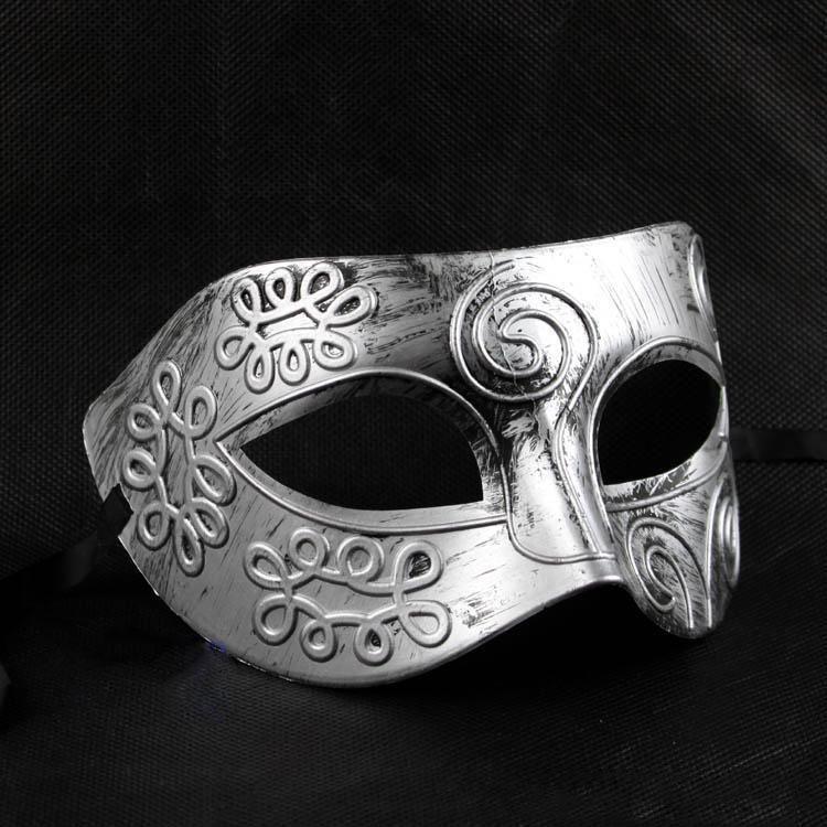 Retro Roman gladiator Halloween party masks man woman children Mardi Gras Masquerade mask two colors Silver, Gold