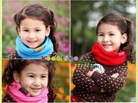 Wholesale Candy Colors Baby Scarf - Wholesale - Candy colors baby scarf of girls and boys children scarf   winter season 2-8 year-old