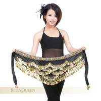 Wholesale Belly Scarf Silver - Coloured Coin Bead Belly Dance Hip Scarf Belt 9 Colors 328 Silver Coins Just New Arrival
