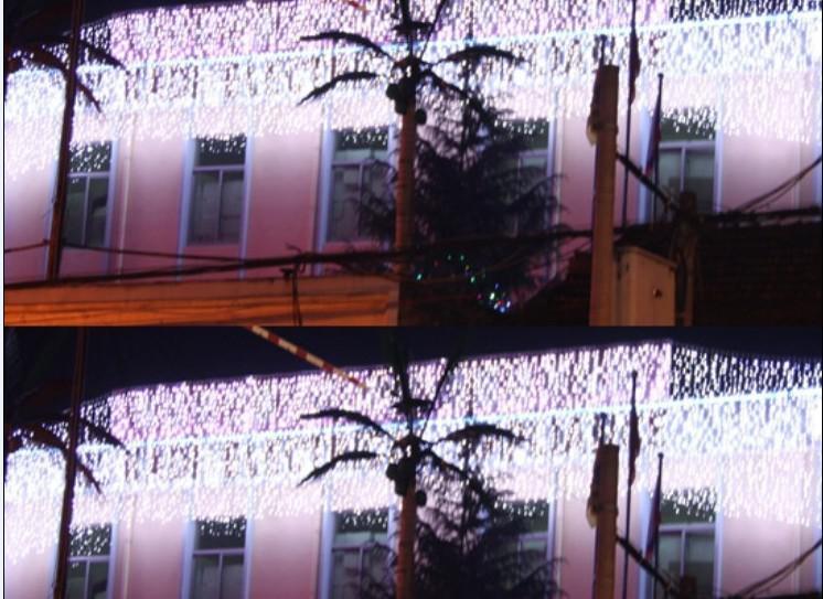 Sınırlı Peri Işıklar 480leds Düğün Arkaplan Işık Perde Lambalar Peri Noel Işıklar Festivali Led Bahçe 10m x 1.5m