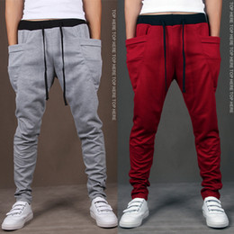 Wholesale Feet Yards - Men's sports trousers male feet Wei pants big yards pants harem pants