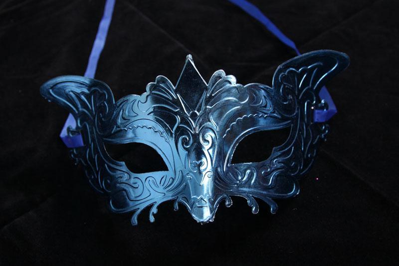 Venetian Style Plating Lovely Genius Fox Costume Masquerade Mardi Mask Masquerade Party Halloween Mask Multicolor Valfritt