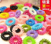 200pcs lot Mix Women Telephone Line Elastic Hair Rope Access...