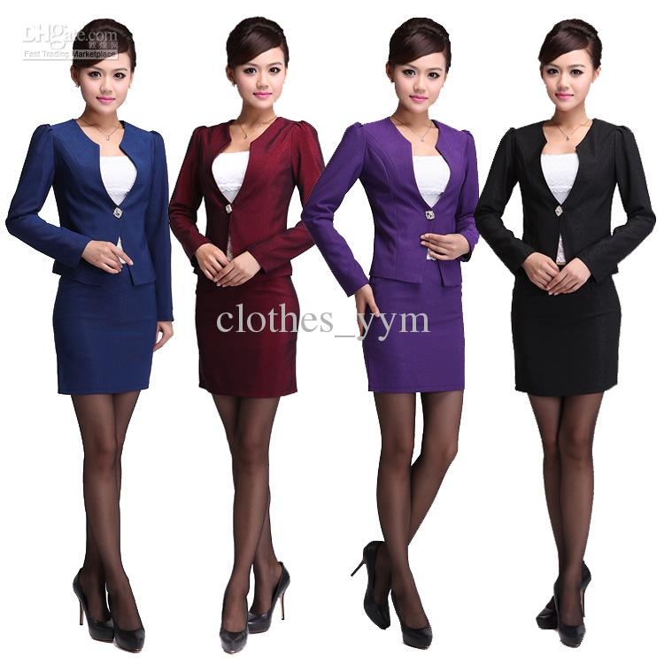 2017 New Arrival Purple Vocational Suit Career Suits Women's Dress ...