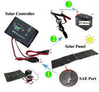 Wholesale Solar Powered Boat Kit - 60W Solar Power Kit 60 watt Folding Monocrystalline Silicon Solar Cells + Regulator Controller 12V +Laptop Charger