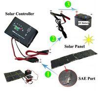 12v laptop ladegeräte großhandel-60W Solar Power Kit 60 Watt Monokristalline Silizium Solarzellen + Regler 12V + Laptop-Ladegerät falten