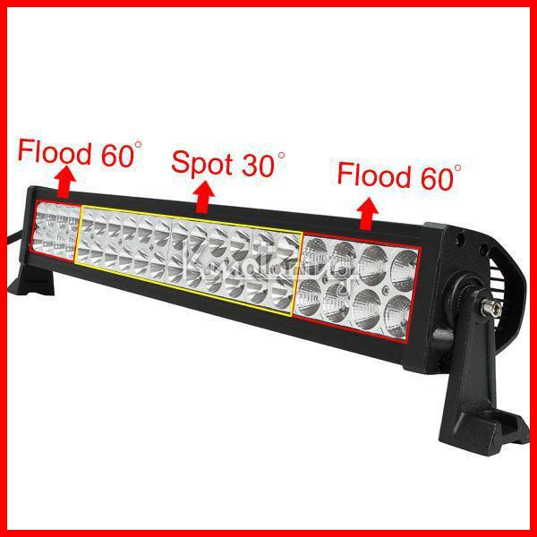 """22"""" 120W 40-LED*3W Work Light Bar Spot Driving Off-Road SUV ATV 4WD 4x4 Flood / Combo Beam Pencil Spread 8000lm 9-32V JEEP Reflection Cup"""
