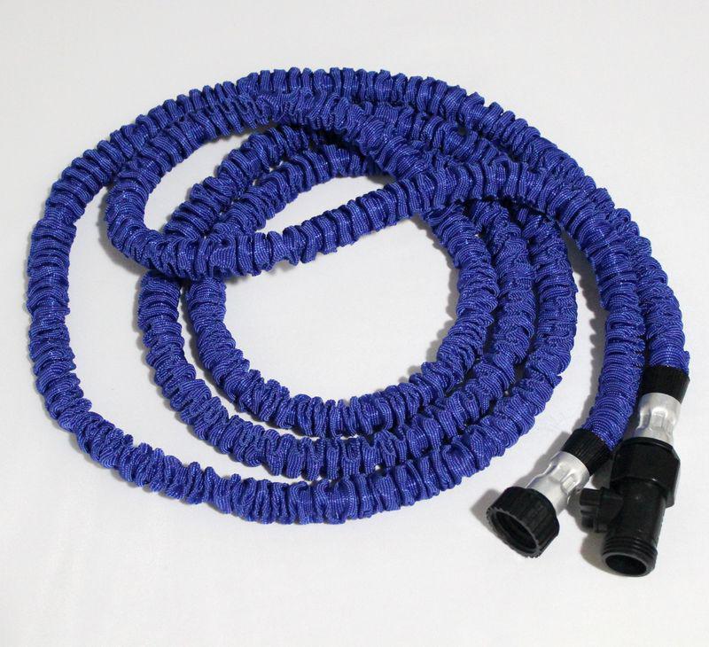 25FT Schlauch erweiterbar flexible Wasser Garten Schlauch flexible Wasser blau und grün Farben /
