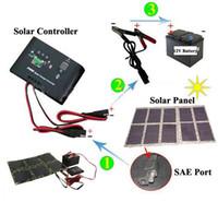 células de painel solar monocristalino venda por atacado-100W Painel Solar Monocrystalline Solar Cell Folding Carregador Solar para Laptop / Computador / 12V Baterias / Telefones