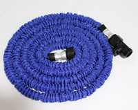 Wholesale Green Rubber Hose - 25FT HOSE Expandable & Flexible WATER GARDEN hose pipe flexible water Blue and Green Colors 20pcs lot