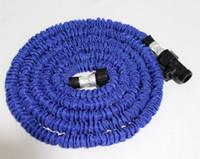 schlauch für garten großhandel-25FT SCHLAUCH Expandable Flexible WATER GARDEN Schlauch Rohr flexible Wasser Blau und Grün Farben 20 teile / los