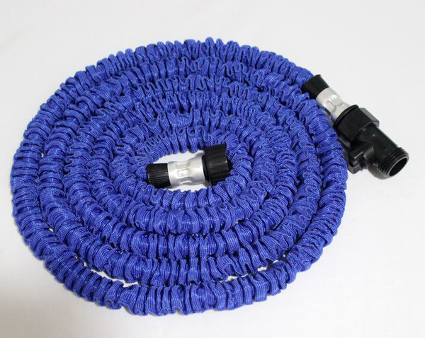 top popular 25FT HOSE Expandable & Flexible WATER GARDEN hose pipe flexible water Blue and Green Colors 20pcs lot 2021