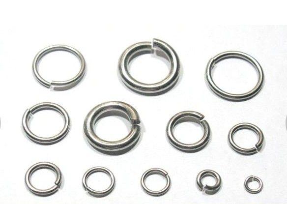 أكثر اختيار حجم قوي DIY مجوهرات العثور على مكونات الفولاذ المقاوم للصدأ الانتقال الدائري سبليت حلقة تناسب قلادة