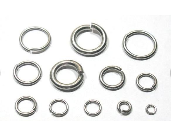 Más tamaño de la selección Strong DIY jewelry finding Componentes Anillo de salto de acero inoxidable anillo dividido en forma de collar