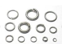 paslanmaz çelik takı bileşenleri toptan satış-Daha fazla seçim Boyutu Güçlü DIY takı bulma Bileşenleri Paslanmaz çelik Jump Yüzük bölünmüş yüzük fit Kolye