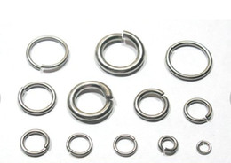 Wholesale Wholesale Jewelry Components - More pick Size Strong DIY jewelry finding & Components Stainless steel Jump Ring & split ring fit Necklace