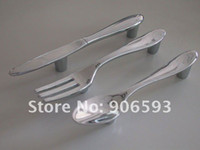 Wholesale 15pcs creative knife fork spoon kitchen cupboard handles cabinet handles drawer handles furniture handle