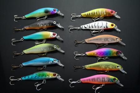 FISHING LURES CRANKBAIT LOCUST HOOKS 4.1g/4.5cm Diving Depth: 0.6-1.2m