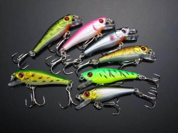 Fishing Crankbait Lure Bait Hook 4.8g/5.5cm Diving Depth:0.3-0.9M