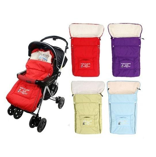 Retail Wool Quilted Cover Baby Sleeping Bag Warmer Child Sleep sack for Stroller Cart Basket Infant Kids Thick Fleabag Multifunctional