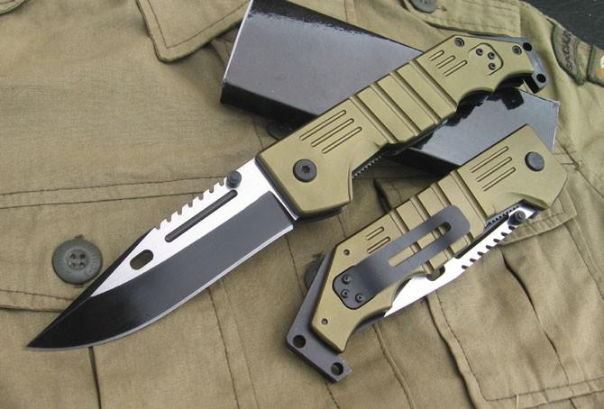 For Outdoor Sports Ak 47 M9 Folding Knife 420j2 Blade