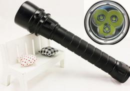 Wholesale Cree Xml U2 Tactical Flashlight - Free shipping CREE XML 4000Lm 100m Diving Flashlight 3x CREE XML U2 LED Flashlight Torch led Waterproof Light