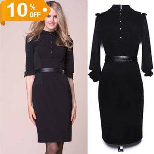 4771dcdc40121 Hot Fashion Dresses women's party dress half sleeve FALL dress midi dress  BLACK LADIES DRESSES SEXY GIRL DRESS SKIRT Slim Knit dress
