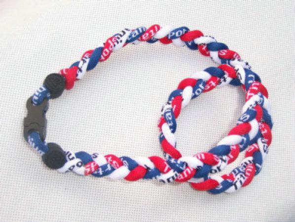 "baseball tornado X45 X50- GT Titanium fashion jewelry 3 rope braid necklace any size 18"" 20"" 22"" 24"""