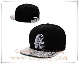 Gorra snapback de piel de serpiente negra online-Black Last King Series Snapback cap snakeskin snapkins sombreros Strapbacks