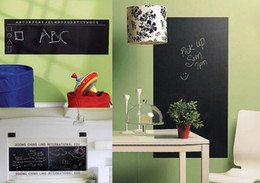 Wholesale Stickers Removable Blackboard - 45*200cm Removable Blackboard Stickers PVC Chalkboard Wall Decor Decals for Kids Children Playroom, for Office and Classroom