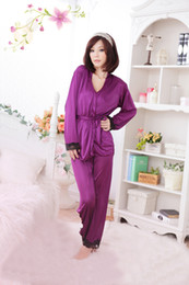 Discount pajamas hottest - 3 PCS fashion women's sexy pajamas lace long sleeve new products sell like hot cakes style clothes #5054