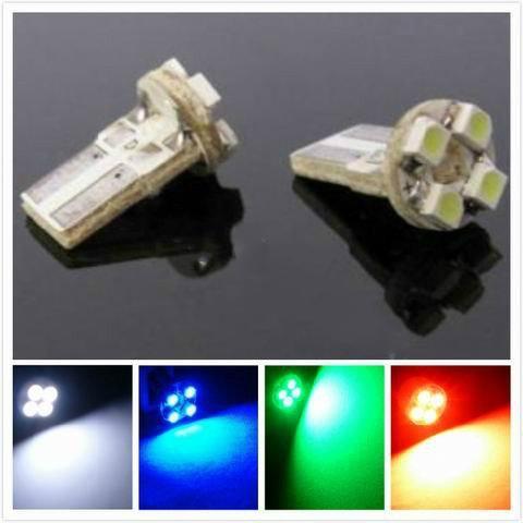 T10 PWB 4 LED 4 SMD 3528 Auto-Endstück LED drehen Glühlampe