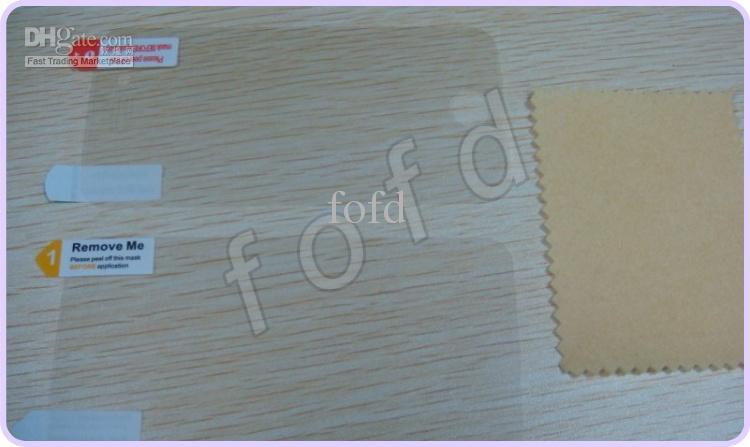 Limpar protetor de tela lcd guarda full body frente para trás para iphone 4 5 6 7 8x4s sem pacote de varejo 1000 pçs / lote