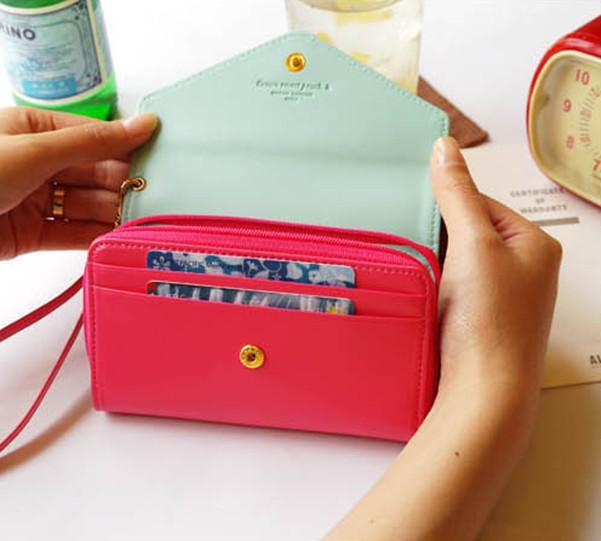 Umschlaggeldbeutel PU-Leder-Schlag-Kronen-intelligente Beutel-Abdeckungsfallhandytasche für iphone 5S Se 6s plus für Samsung s6 s7 Anmerkung 4 5 große Größe