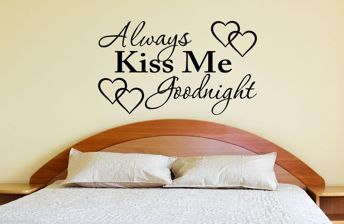 Always Kiss Me Goodnight Girls Vinyl Decal Part 96