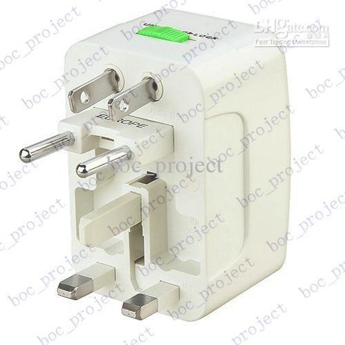 Универсальный мир все-в-одном путешествия адаптер переменного тока конвертер в США/Великобритания/AU / EU Plug 10 шт. / лот CN post