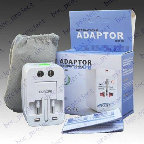 Universal World All-in-one Travel AC Power Adapter Converter to US/UK/AU/EU Plug 10pcs/lot CN post