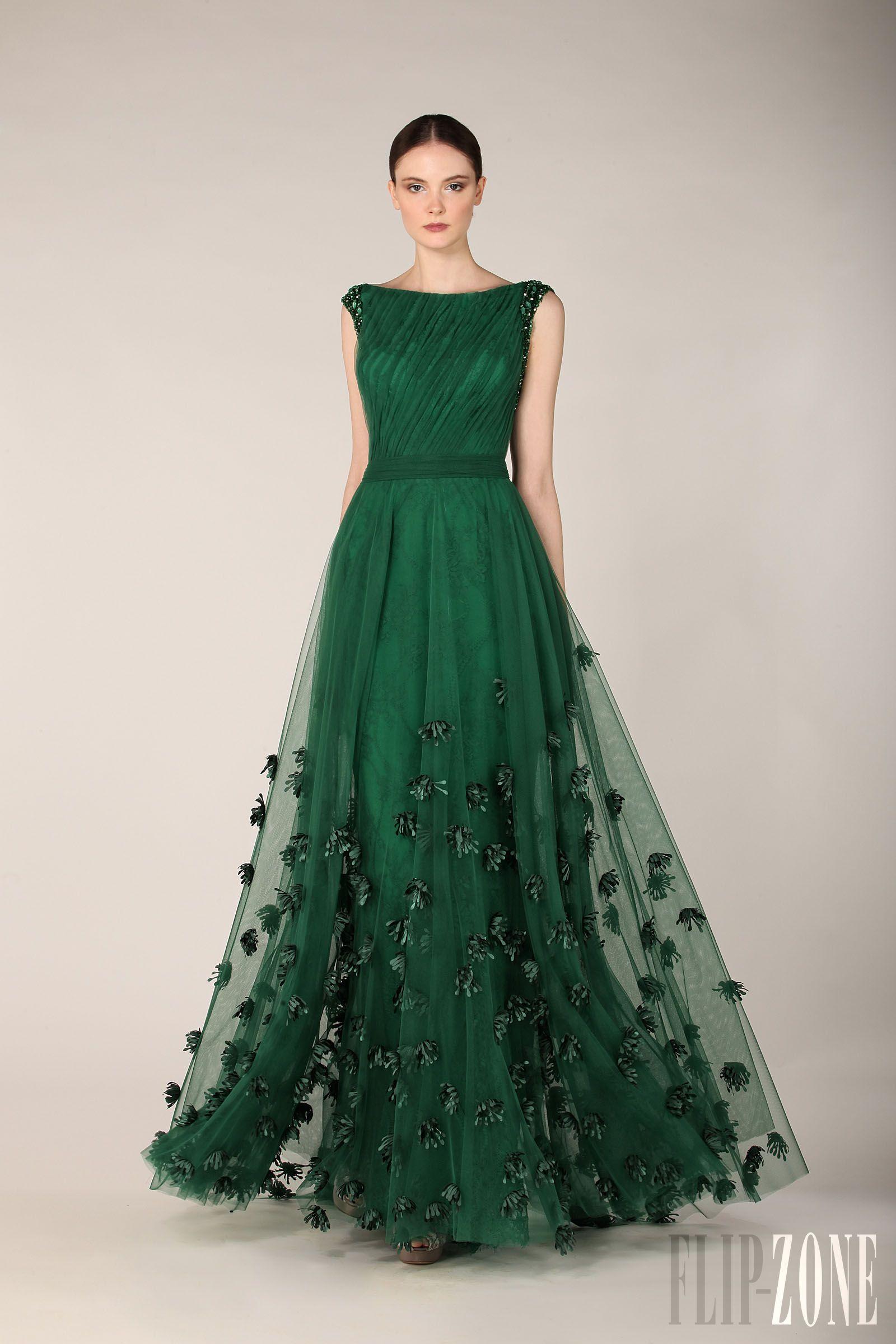 nuevo estilo dee2b 4216d Vestidos Para Sair A Noite Elegante Elegante Zuhair Murad Vestido Verde  Esmeralda Tampa Manga Vestido De Noite AL2051 Vestidos Longos Para  Formatura ...