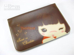Wholesale Beauty Banking - Wholesale - Free shipping Credit Bank Beauty ID Card Organizer Case Pouch Keeper Wallet Holder Brown #8389