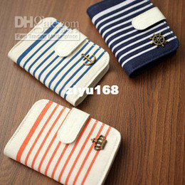 Wholesale Card Holder Zakka - Wholesale - Zakka style lady korea style Canvas card case ID card Holder 3 color FreeShipping 15Pcs lot