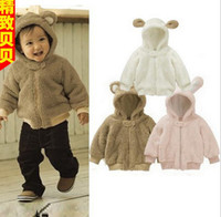 Wholesale Girls Pink Hooded Jacket - Wholesale - Autumn Winter Baby clothes Boys Girls Coat buttercup lovely rabbit Kids hoodies jacket outwear