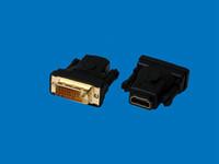 hdmi dvi dhl toptan satış-HDMI Kadın erkek DVI (24 + 1) Adaptörü Bağlayıcı 1080 P Siyah renk DHL Hızlı kargo, 100 adet / grup