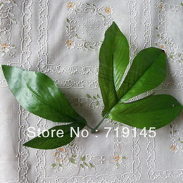 Wholesale Fake Leaves - 100pcs big peony leaves artificial simulation fake peony leaf DIY handmade flower home decoration