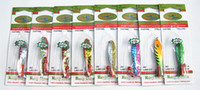 trolling señuelos giradores al por mayor-Señuelo de la pesca Cuchara cebo Spinner señuelo trolling cebo Señuelos de pesca de metal Cebo falso Aparejos de pesca Material de cobre puro China gancho 3.5g 4.7g