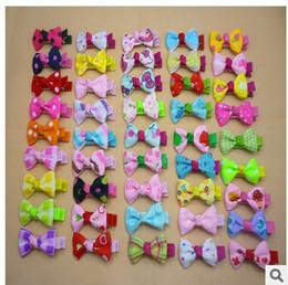 Wholesale Cute Hair Bangs - Korean baby girls cute bow Bangs clip hair headwear hairpin girl's Hair Accessories baby hairpin