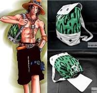 Wholesale Costumes D Halloween - Japanese Cartoon Anime cosplay One piece Portgas D Ace Cosplay Green Bag Backpack funs gift cosplay