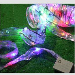 Wholesale Gift String Band - LED holiday light strings 5 m small gift bow ribbon hair band new wedding supplies