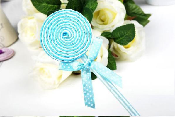 Detaljhandel söt lollipop penna boll punkt penna kontorsmaterial brevpapper byte 0,5 mm blå c