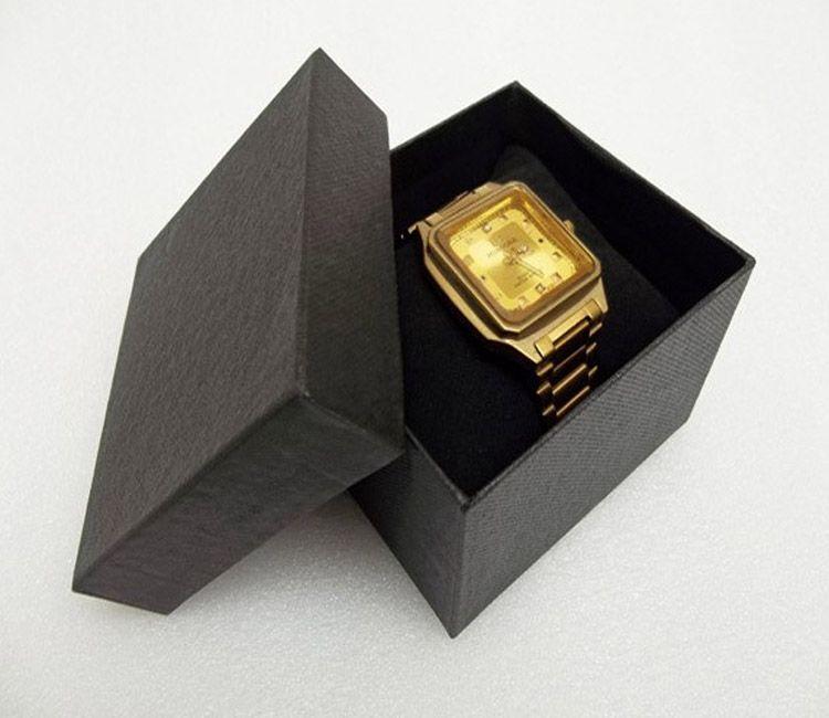 Freies verschiffen 30 STÜCKE Uhr Handgelenk Geschenk verpackung papierkästen mit Kissen Rot Blau Schwarz Uhr Display Uhr Halter Verpackung Box Freies Verschiffen