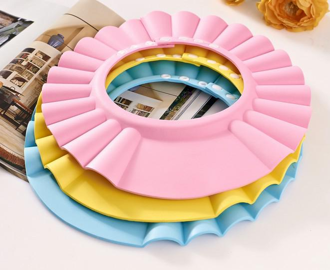 조정 가능한 샤워 캡은 아기 건강을위한 샴푸를 보호합니다 목욕탕 방수 모자 모자 아이 아이 아이들은 머리 방패 모자를 씻으십시오